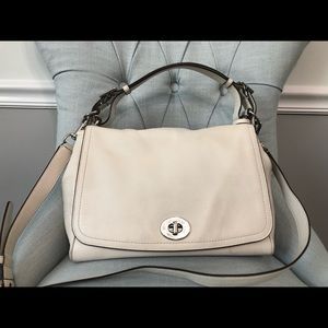 Coach leather purse- cream